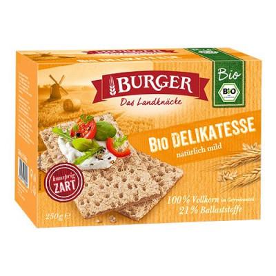 Knækbrød fuldkorn Økologisk - 250 gram