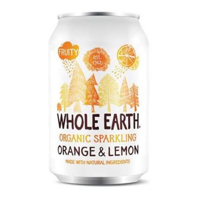 Sodavand Whole Earth Orange-lemon Øko - 330 ml.