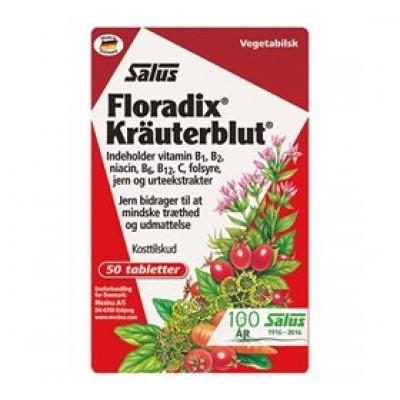 Floradix Kräuterblut Urte-Jern (50 tabletter)