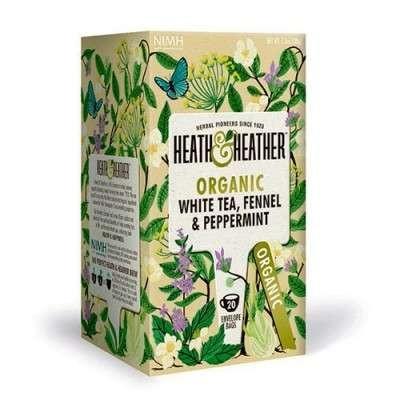 Vareprøve - Heath & Heather White Tea, Fennel & Peppermint Ø