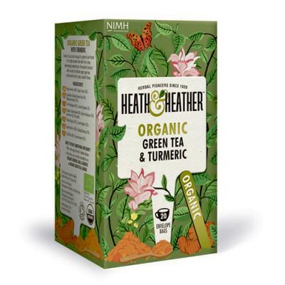 Heath & Heather Organic Green Tea & Turmeric