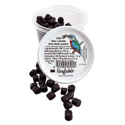 Sukkerfri 100 % Ren Lakrids (80 gr)