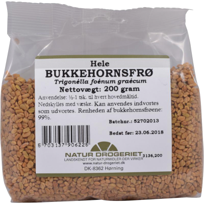 Natur Drogeriet Bukkehornsfrø Hel (200 gr)