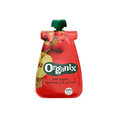 Organix Babymos æble jordbær quinoa Ø fra 6 mdr (100 g)