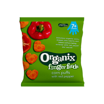 Organix finger foods red pepper hearts (20g)