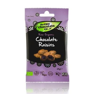 Rosiner med rå chokolade Snack Pack Øko - 28 gram