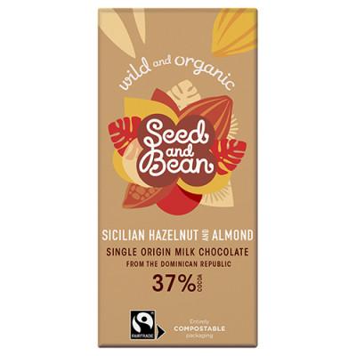 Naturesource Mælkechokolade 37% Hasselnød og Mandel Ø (85 gr)