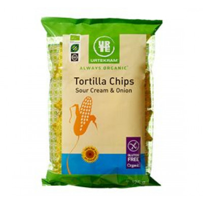 Urtekram Tortilla Chips Sourcream & Onion Ø (125 gr)