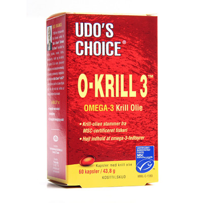 Udo's Choice O-Krill 3 500 Mg (60 kapsler)
