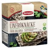 Knækbrød hørfrø glutenfrit fra Semper - 230 gram