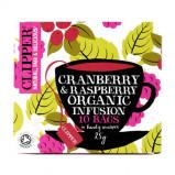 Clipper Cranberry & Raspberry tea Øko - 10 breve