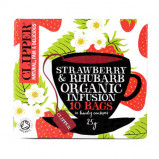 Clipper Strawberry & Rhubarb te Ø - 10 breve