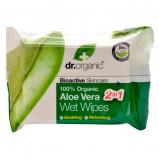 Dr. Organic vådservietter med Aloe Vera - 20 stk.