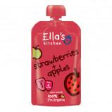 Babymos jordbær & æble 4 mdr Øko - 120 gram