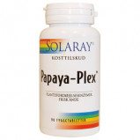 Papaya Plex tyggetabletter Solaray - 90 stk.