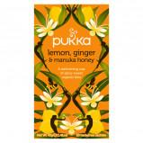 Pukka te med Lemon, Ginger & Manuka Ø - 20 br.