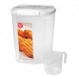 Sistema Opbevaringsboks hvid 3,2 liter med kop