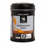 Karry medium stærk Øko fra Urtekram - 25 gram