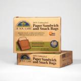 Sandwichposer ubleget nedbrydeligt papir - 48 stk.