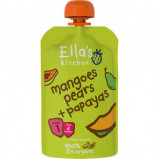 Babymos mango pære & papaya 4 mdr Øko - 120 gram