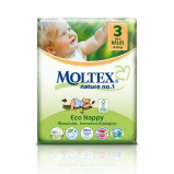 Moltex nr. 3 økologiske bleer 4-9 kg. - 42 stk.