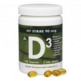 D3-vitamin 90 mcg fra DFI - 120 kapsler