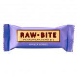 Rawbite Vanilla Berries Øko frugt og nøddebar 50 g