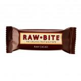 Rawbite Raw Cacao Øko frugt og nøddebar 50 g