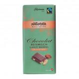 Laktosefri Chokolade mandel fra Naturata Ø 100 g