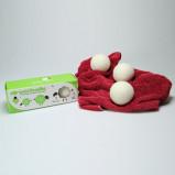 DryerBalls til tørretumbling 100% uld 3 stk.