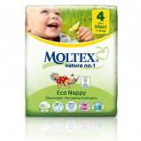 Moltex nr. 4 økologiske bleer 7-18 kg. - 40 stk.