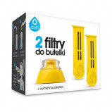 Dafi filter filterflaske gul 2 stk + mundstykke