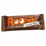 Roobar raw kakao nibs økologisk - 30 gram