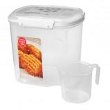 Sistema Opbevaringsboks hvid 2,4 liter med kop