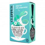 Clipper Hvid te med pebermynte økologisk 26 breve