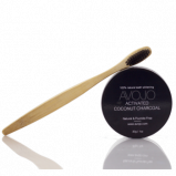 Avojo Activated Coconut Charcoal (30g) + Gratis Tandbørste