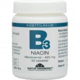 Natur Drogeriet B3 Niacin (nikotinamid) 420 mg (50 tabletter)