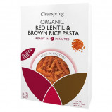 Fusilli røde linser & brune ris Økologiske - 250 g
