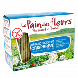 Le Pain Des Fleurs Boghvede Knækbrød U. Salt Glutenfri Ø (150 g)
