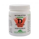 D3-vitamin 85 mcg Super D - 180 tabletter