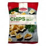 Kikærtechips glutenfri fra Semper - 45 gram