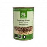 Linser grønne i dåse fra Urtekram Øko - 400 gr