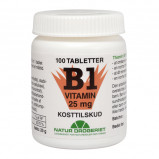 B1 vitamin 25 mg - 100 tabletter