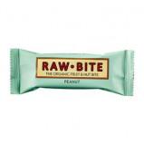Rawbite Peanut Øko frugt og nøddebar 50 g