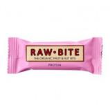 Rawbite Protein Øko frugt og nøddebar 50 g