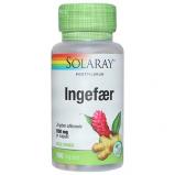 Ingefærrod fra Solaray 550 mg - 100 kapsler