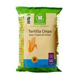 Tortillachips sourcream & onion Øko - 125 gram