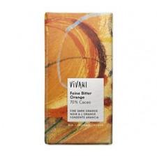 Vivani chokolade bitter m/orange Ø 100 gr.