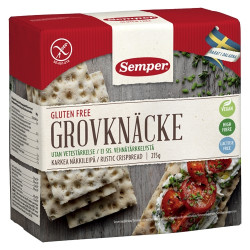 Knækbrød Grov Glutenfri Semper (215 gr)