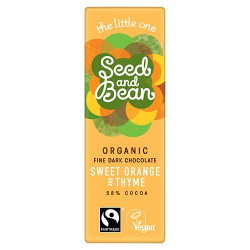 Seed & Bean Mørk Chokolade Sød appelsin & Timian 58% Ø (25 g)